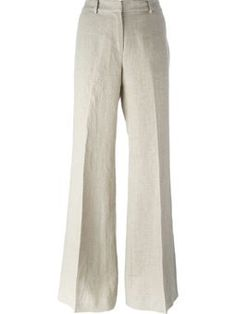 Calça de linho cintura alta Michael Kors Fashion, Korean Street Fashion, 1940s Fashion, Skirt Pants, Shorts, Classic Outfits, Linen Pants, Work Attire, Minimalist Fashion