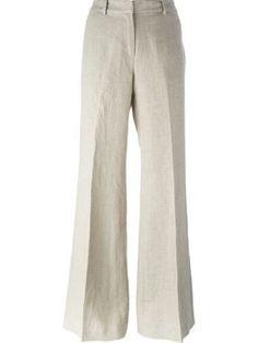 Calça de linho cintura alta