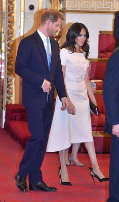 New look? The newly-minted Duchess of Sussex, 36, earned comparisons to her sister-in-law ...