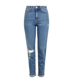 1f48a228fefdd The Most Slimming Jeans for Your Body Type via  WhoWhatWear High Waisted  Mom Jeans