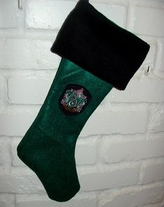 """Slytherin Christmas Stocking 