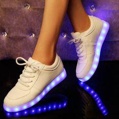 Sportswear usb unisex LED luz ata acima sapatas da sapatilha luminosa sapatos ca - R$125.40