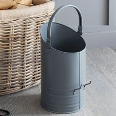 Add an industrial element to your fireplace with this Steel coal hod from Garden Trading. With a simple asymmetrical design, this coal hod or scuttle is made from powder coated steel in sleek charcoal