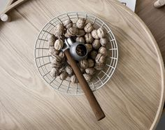 With its dark wooden shaft and the cast iron top the Nut Hammer, from Danish brand Menu, looks just as handy as it is. Simply place a nut in the silicone holder, hit the hammer against a hard surface, and the cast iron back will crack the nut. Solid Surface, Design3000, Menu, Shops, Bowl Designs, Central Saint Martins, Christmas Gift Guide, Wire Baskets, Industrial Lighting