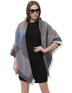 Women's Shrug Sweaters - Women Blanket Poncho Shawl Cape Winter Oversized Cardigans Fashion Reversible Shawls * Check out the image by visiting the link. Blanket Poncho, Poncho Shawl, Shrug Sweater, Women's Sweaters, Cardigans, Sweaters For Women, Oversized Cardigan, Cardigan Fashion, Shawls