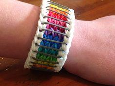 Rainbow Loom Bracelet  Sailor's Pinstripe  by EmzDesignz on Etsy, $8.50