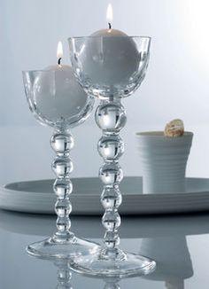gler kertastjakar sem verða fallegir úr tré I love candles #heston, charmies, charmiesbywendy