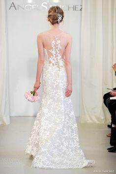angel sanchez spring 2014 bridal sleeveless illusion neckline portrait back dress
