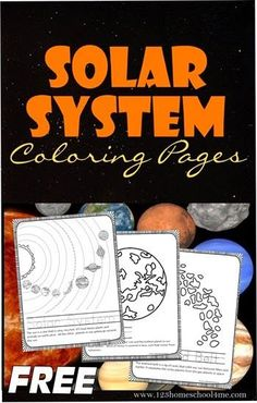 Solar System Coloring Pages FREE! Solar System Coloring Pages - Kids will love learning about the solar system as they color these coloring sheets for each planet, asteroid belt, sun, and more! These are great to keep kids busy while homeschool moms read Solar System Activities, Space Activities, Science Activities, Space Games, Science Experiments, Science Lessons, Teaching Science, Science For Kids, Teaching Geography