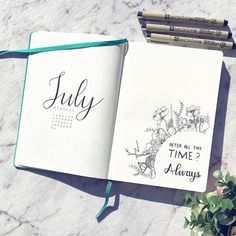 ⚡️ J U L Y ⚡️ With less than a week to July, here's my first official month of my #bulletjournal and it's my #birthdaymonth (yes I get a…