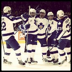 Celebration shot. Marlies at Air Canada Centre on Boxing Day.