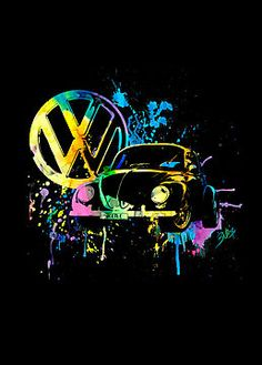 Volkswagen Beetle - Splash by blulime (tattoo idea) drinkpinkwithdee.com