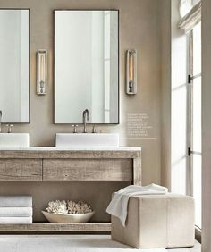bathroom decor 9 Crazy Tricks: Bathroom Remodel Modern Window inexpensive bathroom remodel sliding b Bathroom Renos, Bathroom Interior, Bathroom Ideas, Bathroom Vanities, Industrial Bathroom, Bathroom Storage, Vanity Mirrors, Master Bathroom, Wainscoting Bathroom
