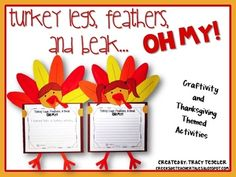 Turkey Legs, Feathers, & Beak OH MY!  {Thanksgiving Craftivity