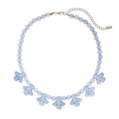 LC Lauren Conrad defines feminine elegance with this stunning blue beaded necklace. Lc Jewelry, Jewellery, Pearl Necklace, Beaded Necklace, Soft Gamine, Lc Lauren Conrad, Playing Dress Up, Chic Outfits, Stocking Stuffers