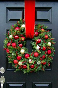 Wreath. Use mini Christmas bulbs for this