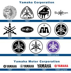 Yamaha motorcycle logo history and Meaning, bike emblem Yamaha Logo, Motos Yamaha, Yamaha Virago, Bike Logo, Motorcycle Logo, Motorcycle Companies, Yamaha Corporation, Logos Meaning, Sr500
