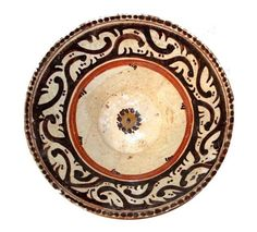 Nishapur White Slip Painted Pottery Bowl, Iran 10th Century AD