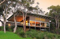 Baileys at Yallingup - Yallingup - South West, WA House On Stilts, House Roof, Cabana, Pole House, Australia House, Western Australia, Shed Homes, House Goals, Camping