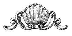 Old Palm Shell Woodcarving Clip Art!