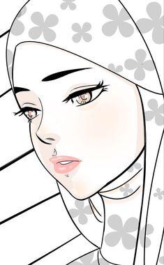 I love this beautiful, forlorn hijabi! Girl Cartoon, Cute Cartoon, Hijab Drawing, Islamic Cartoon, Anime Muslim, Hijab Cartoon, Grafiti, Islamic Girl, Cartoon Sketches