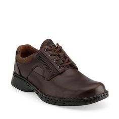 Un.Ravel in Brown Leather - Mens Shoes from Clarks.  Same great shoe in brown.  Sizes: 7-15 N-M-W-EW.  $149.95