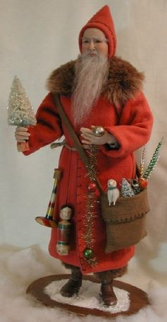 Belsnickle Santa (Notice the putz sheep in his pocket!!)