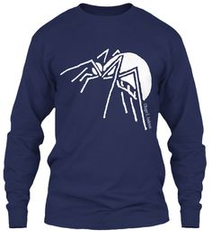 Spider Navy T-Shirt Front