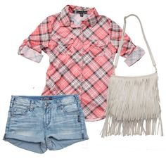 Hello, outfit-I-want-to-wear-every-day-this-summer. #Gordmans #Fringe #Plaid
