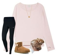 """""""School"""" by classyeva ❤ liked on Polyvore featuring P.J. Salvage, NIKE and UGG Australia"""