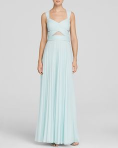 AQUA Gown - Illusion Inset Crisscross Back Pleat Skirt | Bloomingdale's