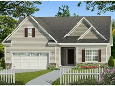 ePlans Ranch House Plan – Narrow Ranch – 1536 Square Feet and 2 Bedrooms from ePlans – House Plan Code HWEPL77792