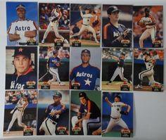 1992 Topps Stadium Club Series 1 Houston Astros Team Set of 14 Baseball Cards #topps #HoustonAstros