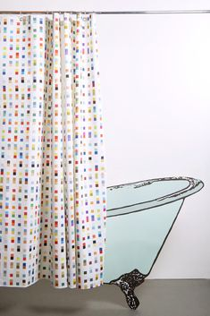 Coastal Artist Cotton Shower Curtain ( Waterproof ) by Matthew Korbel-Bowers Shower Curtains, Artist At Work, Panama, Coastal, Prints, Cotton, Handmade, Home Decor, Craft