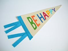 Be Happy #Toddler Room #Decor #PennantFlag #Banner by ArtandAroma