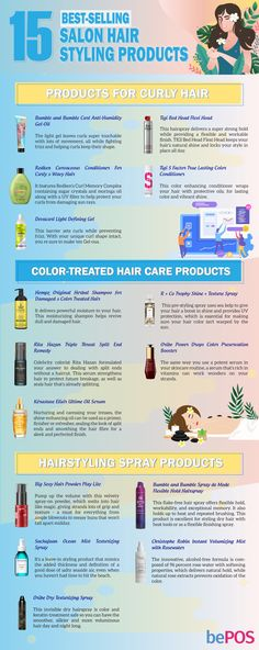 Top 35 Most Favorited Hair Salon Products Texturizing Spray, Styling Products, Popular Hairstyles, Wavy Hair, Salons, Curly Hair Styles, Infographic, Hair Care, Shampoo
