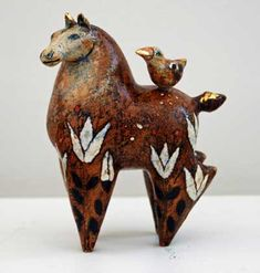 I love horses out of clay. Margaret Wozniak