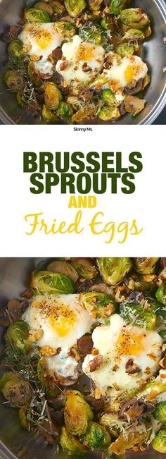 This recipe is vegetarian, paleo, and gluten free, plus it's only 124 calories per serving. I'm going to be making Brussel Sprouts and Fried Eggs this weekend for breakfast.