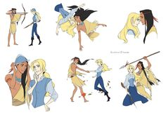 Genderbend Pocahontas. I've always thought that male!Pocahontas would be a hunter or warrior.