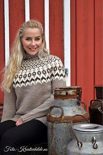 Ravelry: Morgendis pattern by Hilde Morseth Sweater Knitting Patterns, Knitting Stitches, Knit Patterns, Clothing Patterns, Icelandic Sweaters, Cable Knit Sweaters, Etnic Pattern, Nordic Sweater, Vintage Knitting