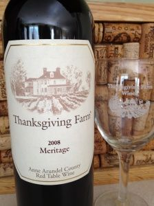 Thanksgiving Farm 2008 Meritage  Maryland Wine done in the Bordeaux Style!