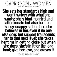 What you need to know about Capricorn women. For more zodiac fun facts, click here.