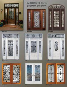 Wrought iron door model