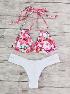 Shop Calico Print Mix & Match Halter Bikini Set online. SheIn offers Calico Print Mix & Match Halter Bikini Set & more to fit your fashionable needs.
