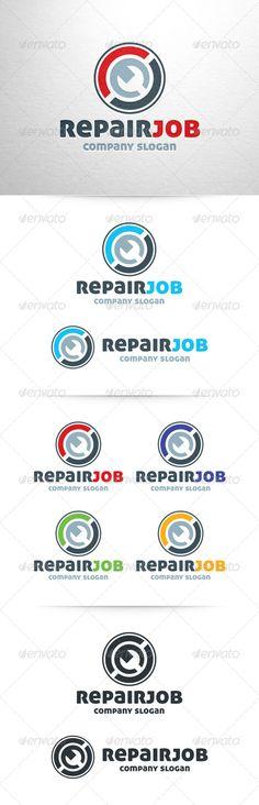 Repair Job Logo Template - Objects Logo Templates