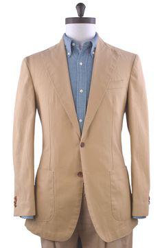 Luxire casual jacket made of Brisbane moss sand canvas. http://custom.luxire.com/products/brisbane-moss-sand-canvas