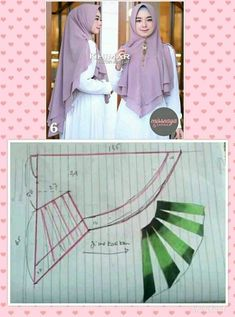 Best 12 Pola kerudung – Page 545498573616003156 Muslim Fashion, Hijab Fashion, Diy Fashion Scarf, Abaya Pattern, Hijab Style Dress, Hijab Niqab, Sleeves Designs For Dresses, Muslim Dress, Hijab Tutorial
