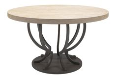 AURORA DINING TABLE, pretty base. could do oval top in diff finish?