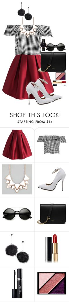 """""""Outfit #5"""" by keziatmrskasrf ❤ liked on Polyvore featuring Chicwish, Boohoo, Full Tilt, ZeroUV, Mulberry, Betsey Johnson, Chanel, Christian Dior, Elizabeth Arden and CLUSE"""