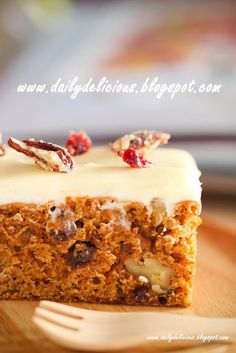 dailydelicious: Low fat carrot cake: Delicious carrot cake with less fat